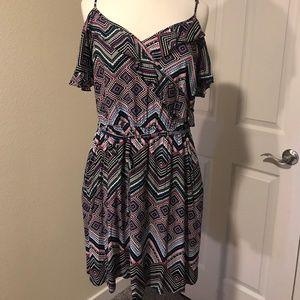 Candie's Peep Shoulder Dress w/ Pockets
